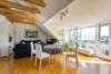 Exklusive, bezugsfreie Maisonettewohnung mit herrlichem Weitblick - Wohnzimmer